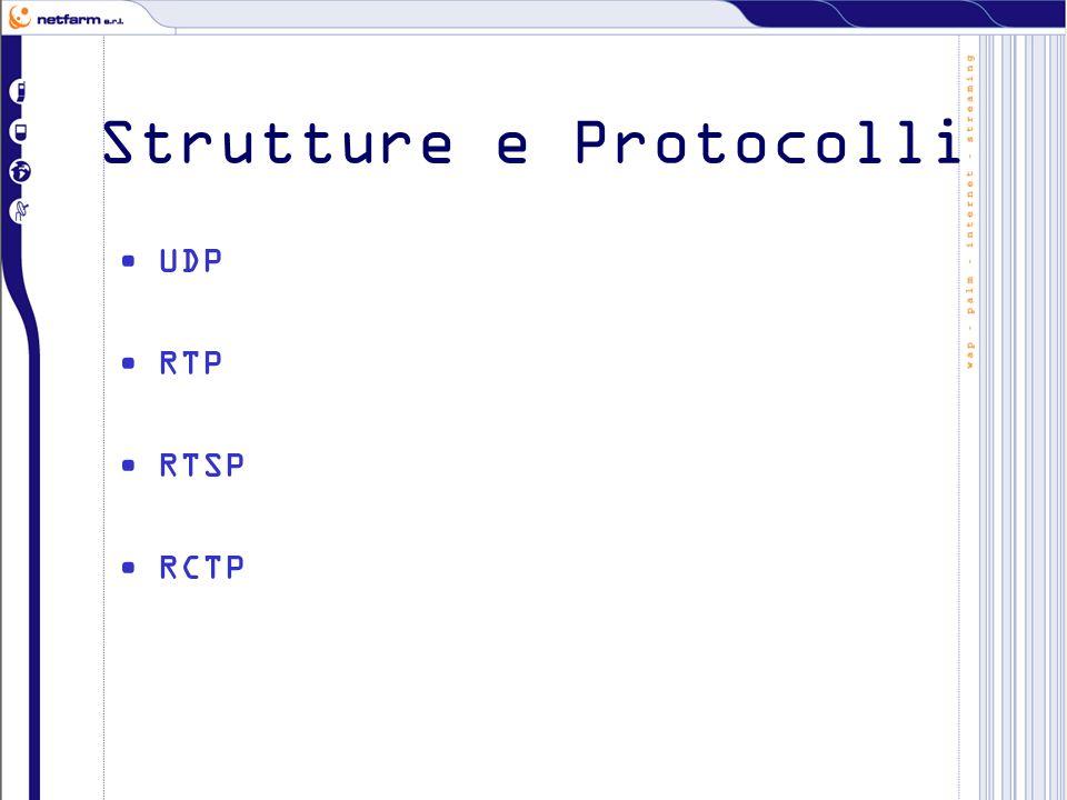 Strutture e Protocolli UDP RTP RTSP RCTP