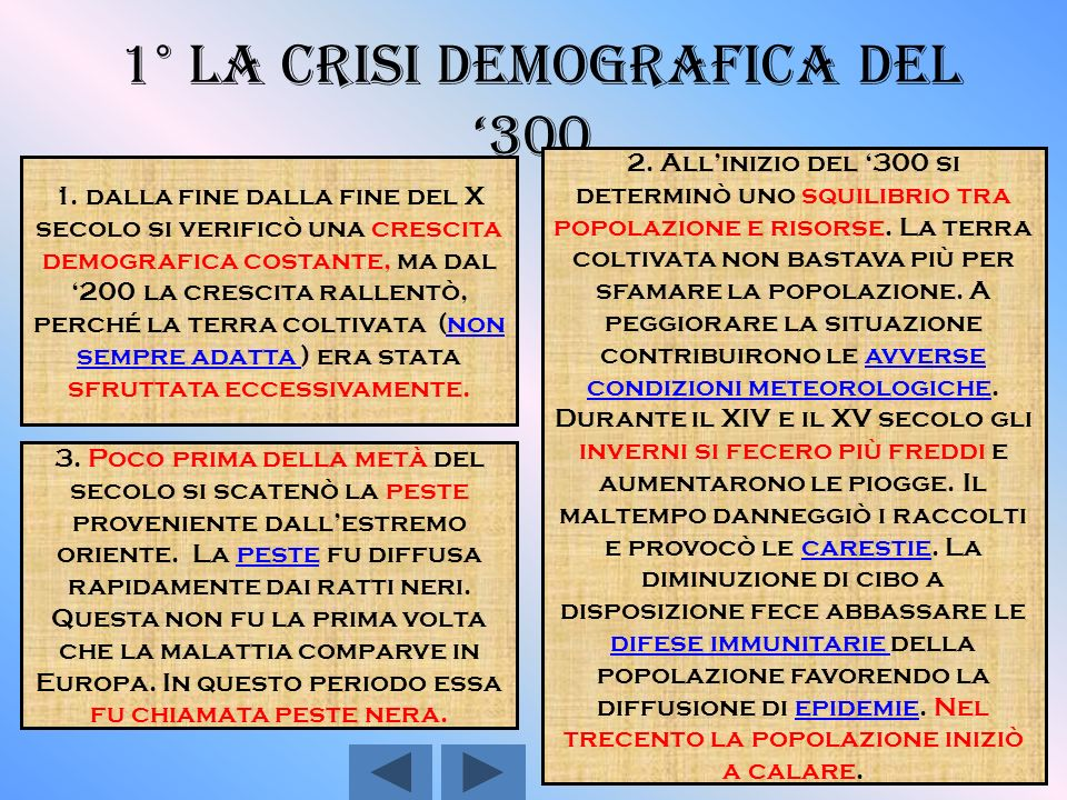 Capitoli: 1°- La crisi demografica del 300 1°- La crisi demografica del 300 2°- La ripresa demografica del 400 2°- La ripresa demografica del 400 3°-