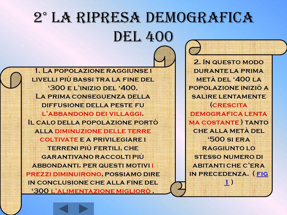 2° La ripresa demografica del 400 1.