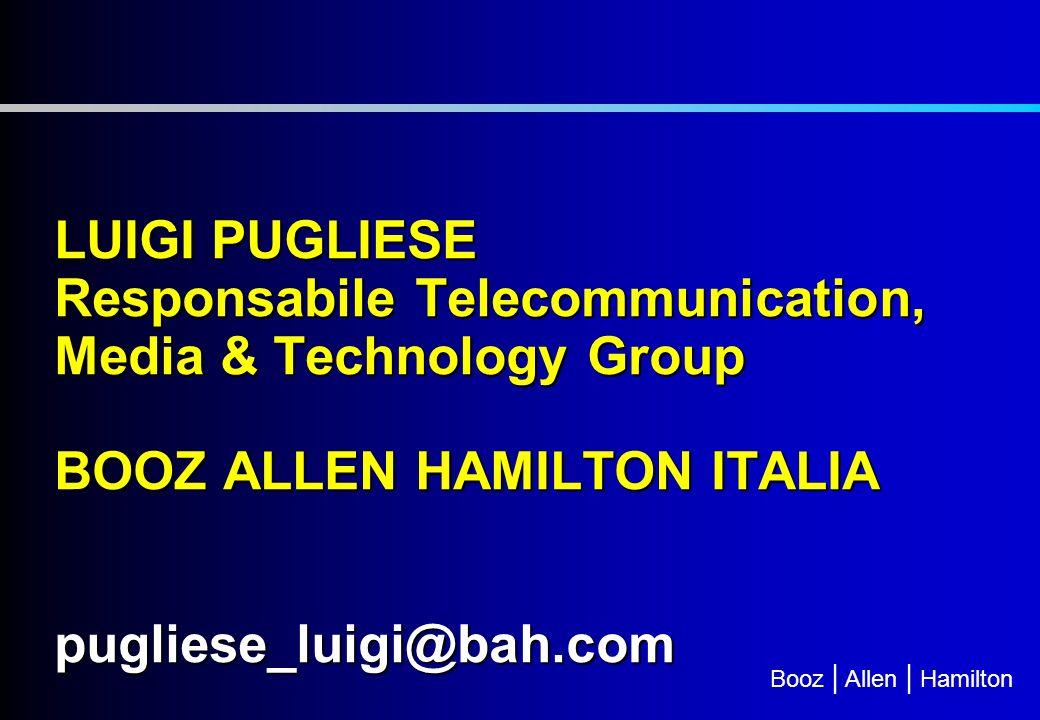 Booz | Allen | Hamilton Pro e Cons del DTT in Italia vs UK PRO DTT Italia Rilevanza in Italia della piattaforma terreste analogica (4 ore al giorno) e