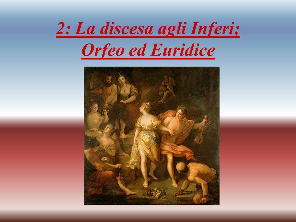 Questo è un quadro in cui sono stati usati colori molto scuri e cupi; rappresenta Orfeo che fugge dagli Inferi portando con sé Euridice.