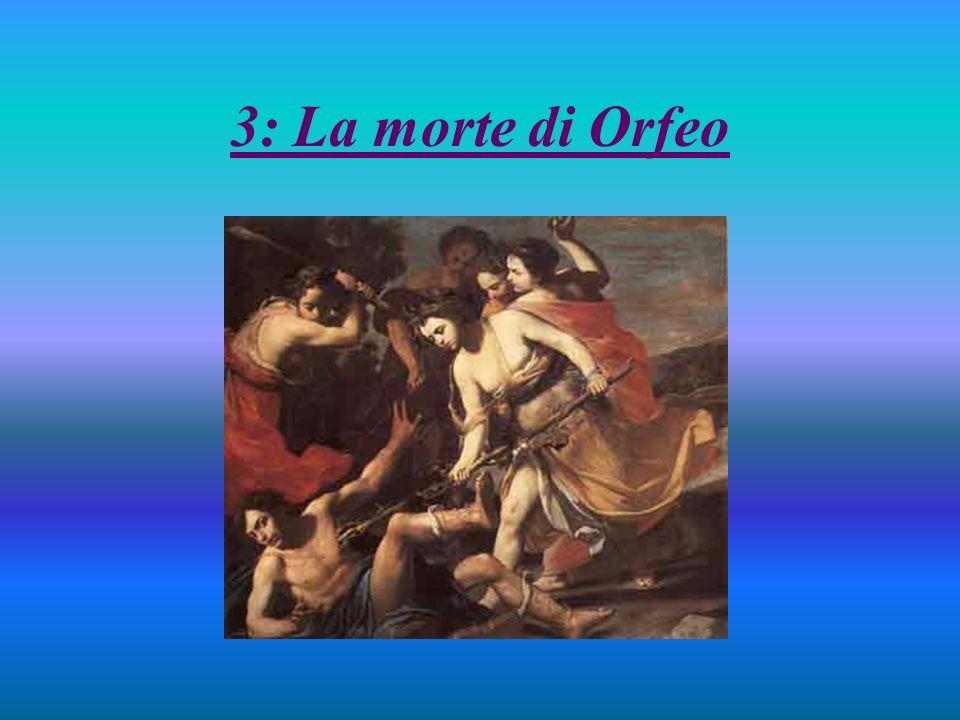 Questo quadro rappresenta Orfeo che viene preso a bastonate e infilzato dalle Baccanti probabilmente perché si era rifiutato di venerare il dio Dioniso (o Bacco).
