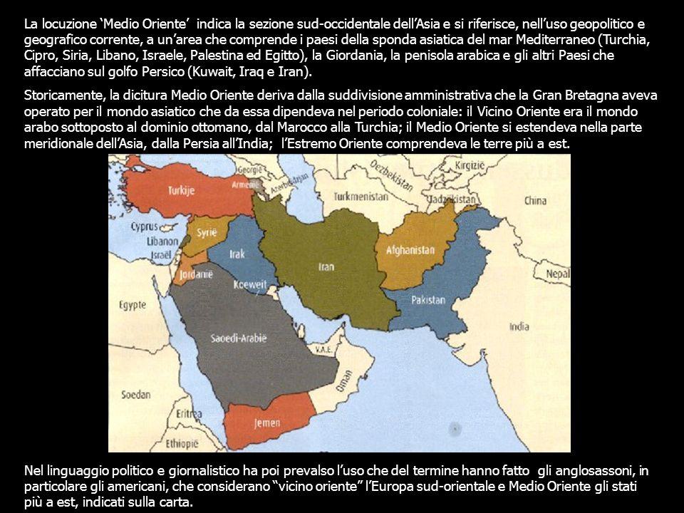 Il Medio Oriente è stato segnato in passato, e lo è tuttoggi, da una complessa crisi, articolata tra rivendicazioni territoriali e scontri fra Stati sovrani su questioni che vanno dalla proliferazione delle armi nucleari alla corretta interpretazione dellIslam.