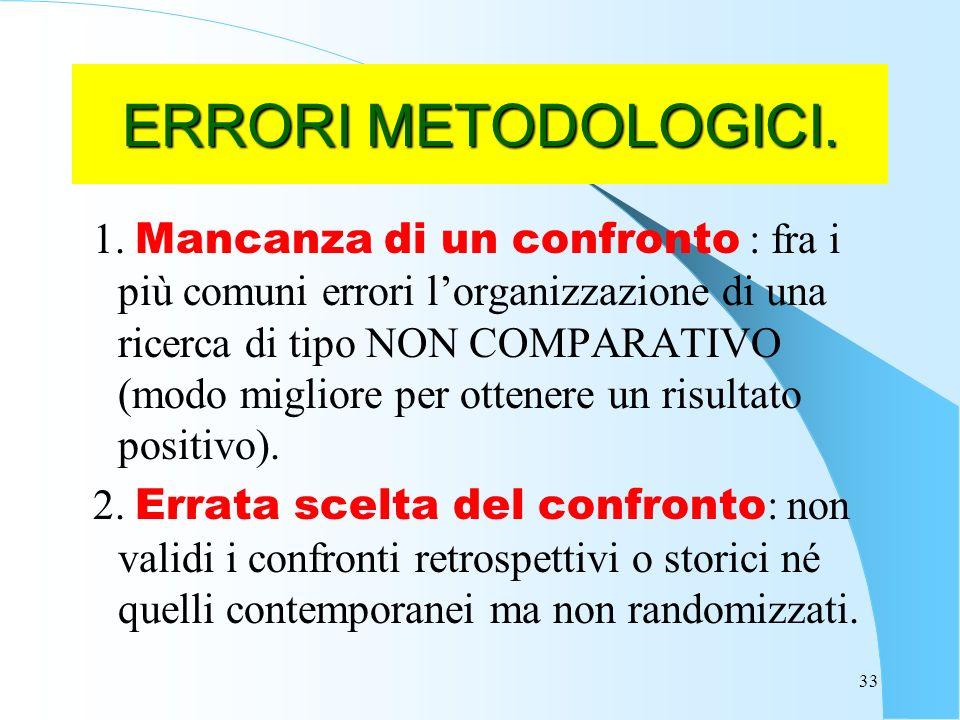 33 ERRORI METODOLOGICI.1.