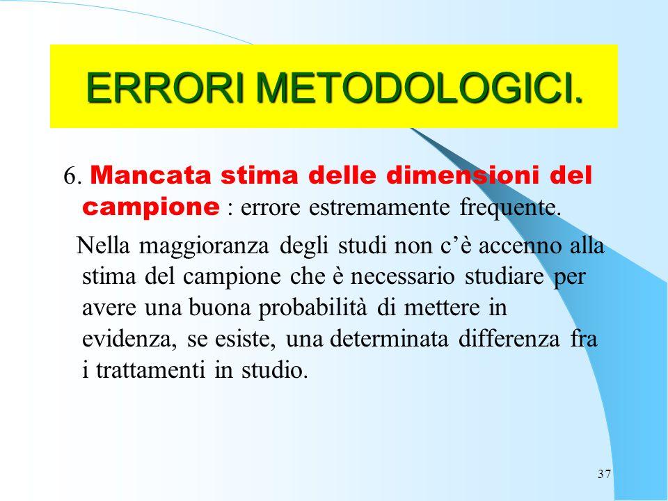 37 ERRORI METODOLOGICI.6.