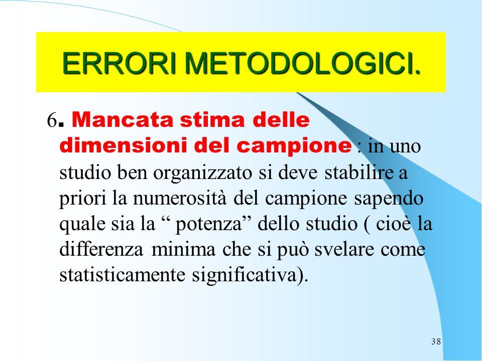 38 ERRORI METODOLOGICI.6.