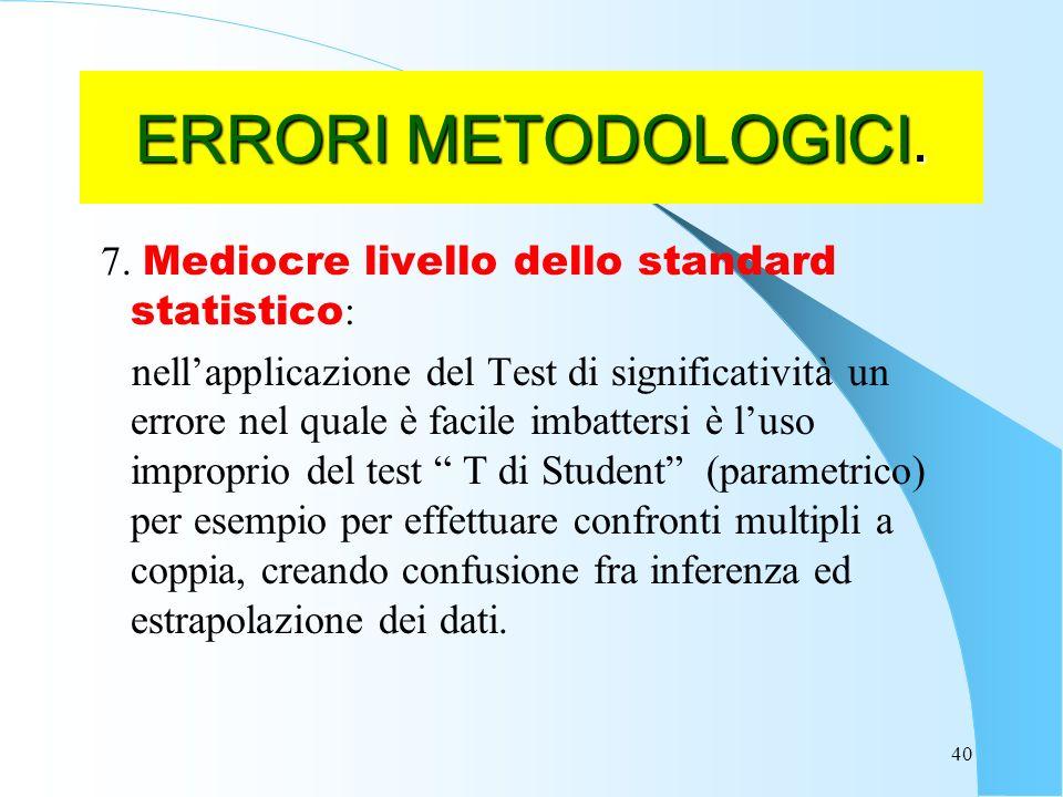 40 ERRORI METODOLOGICI.7.