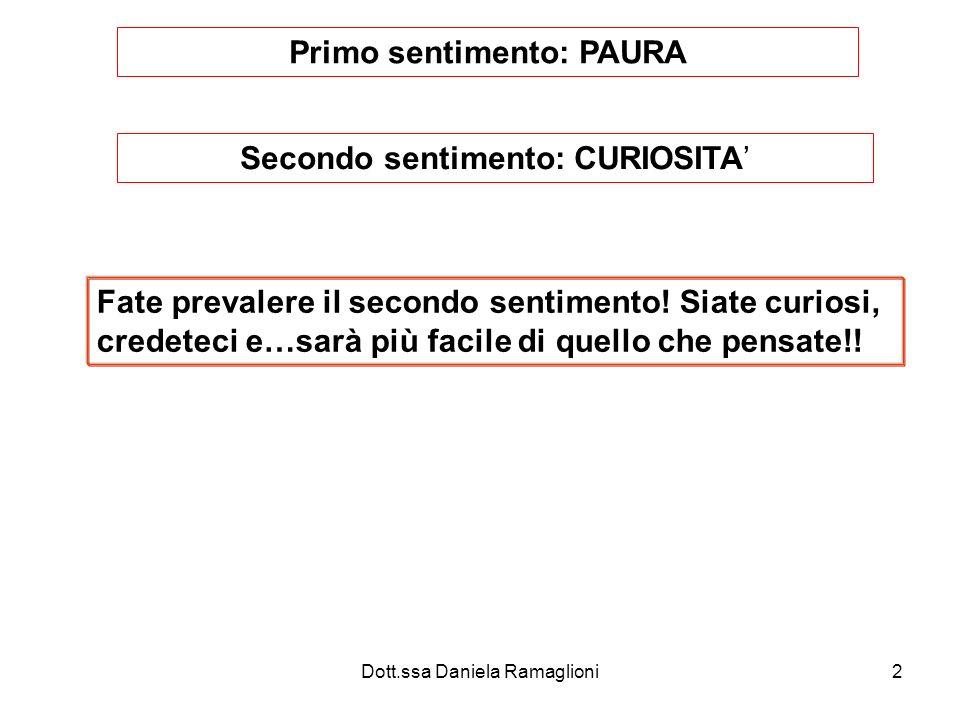 Dott.ssa Daniela Ramaglioni23 Esami finali Al termine del corso gli allievi sono sottoposti ad una prova teorica e ad una pratica.