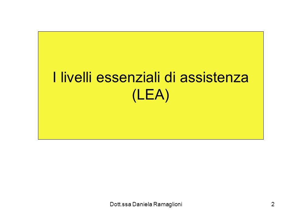 2 I livelli essenziali di assistenza (LEA)