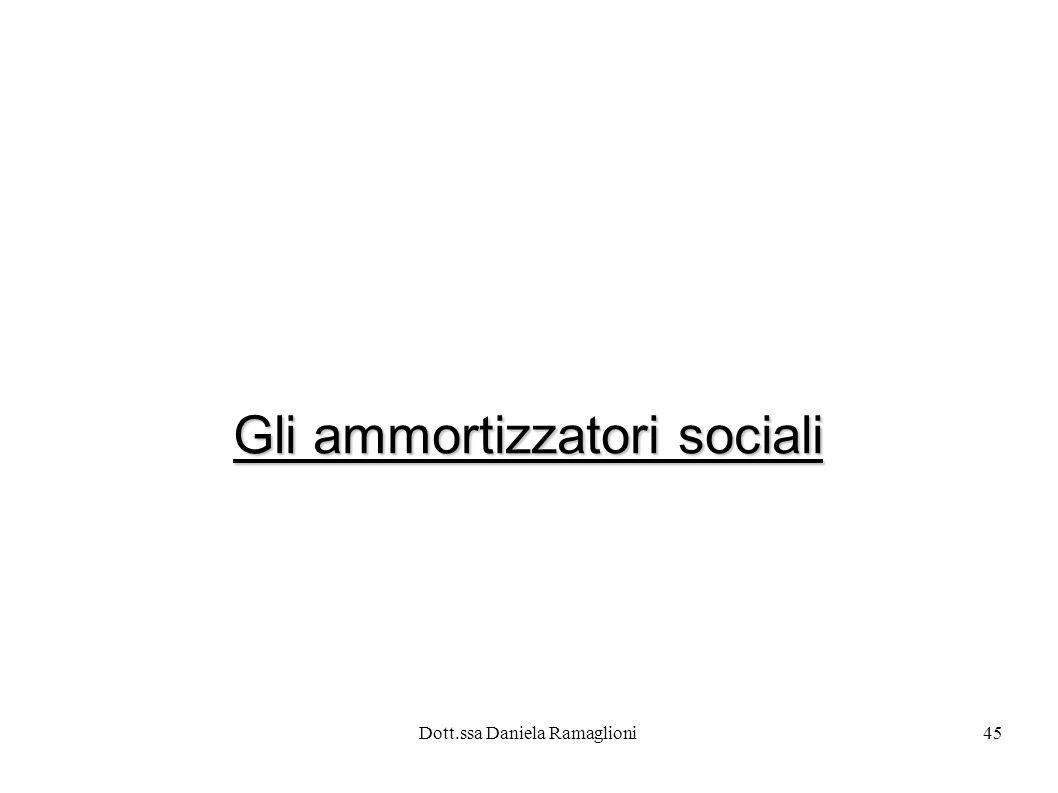 Dott.ssa Daniela Ramaglioni45 Gli ammortizzatori sociali