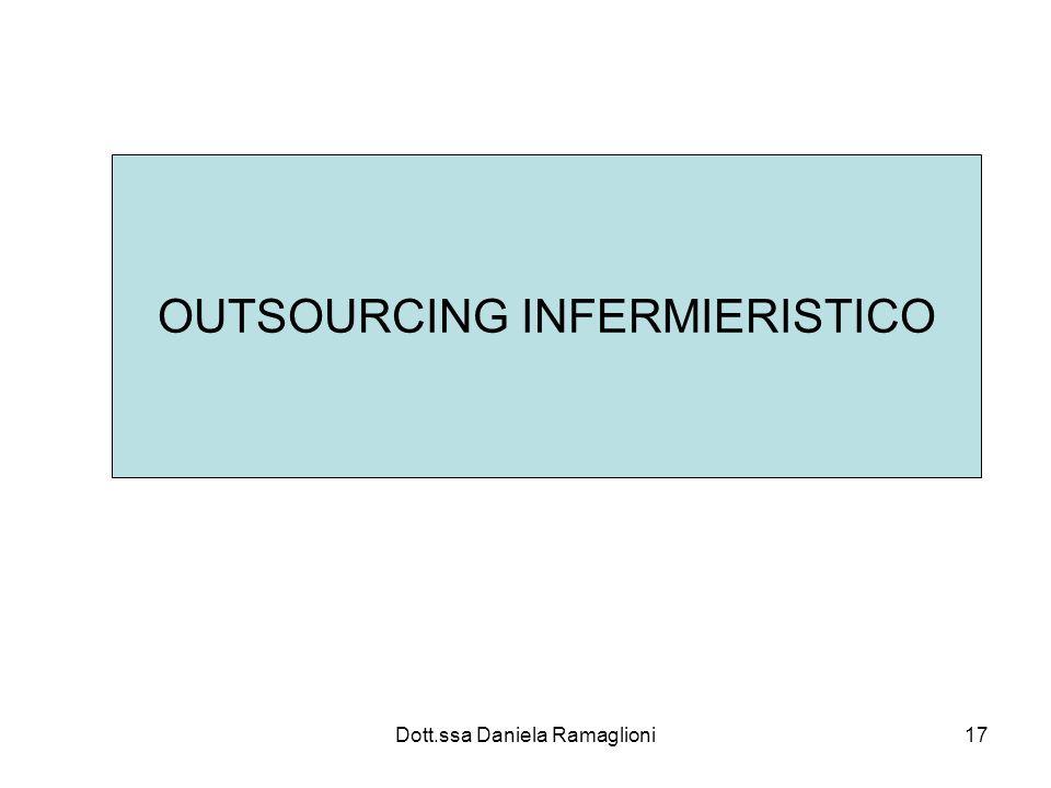 Dott.ssa Daniela Ramaglioni17 OUTSOURCING INFERMIERISTICO