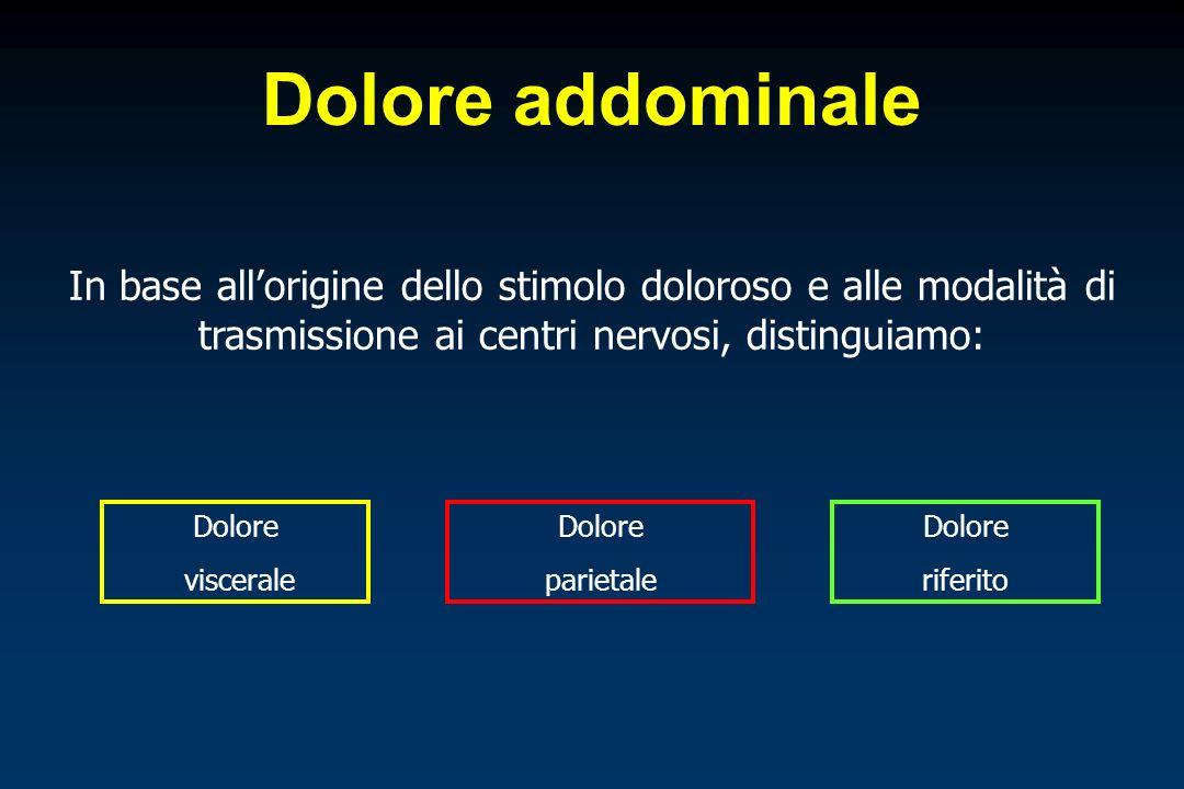 Malattie neurologiche Tabe dorsale Radicoliti: tumori del midollo spinale, artriti degenerative della colonna vertebrale Cause extra-addominali di dolore addominale acuto