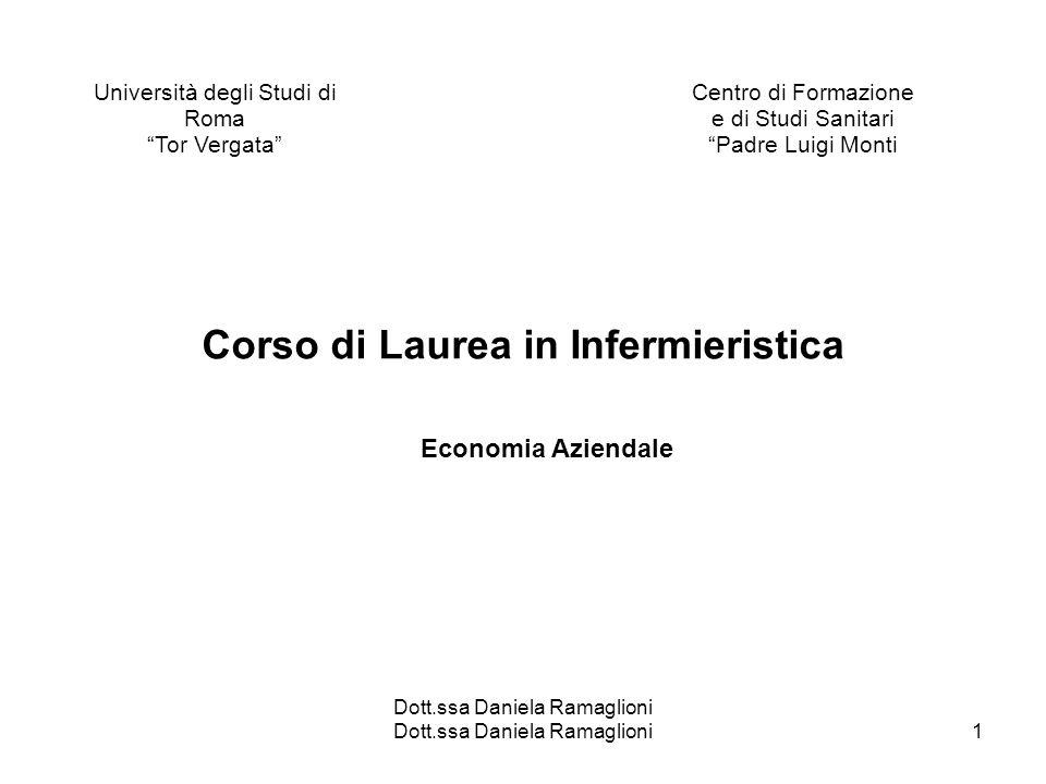 Dott.ssa Daniela Ramaglioni1 Università degli Studi di Roma Tor Vergata Centro di Formazione e di Studi Sanitari Padre Luigi Monti Dott.ssa Daniela Ra
