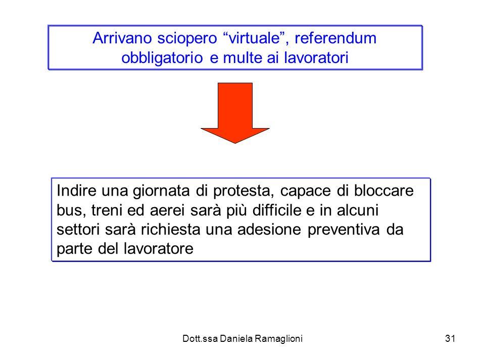 Dott.ssa Daniela Ramaglioni31 Arrivano sciopero virtuale, referendum obbligatorio e multe ai lavoratori Indire una giornata di protesta, capace di blo