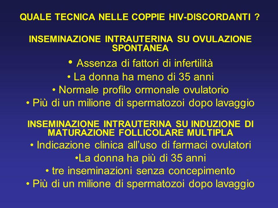 QUALE TECNICA NELLE COPPIE HIV-DISCORDANTI .
