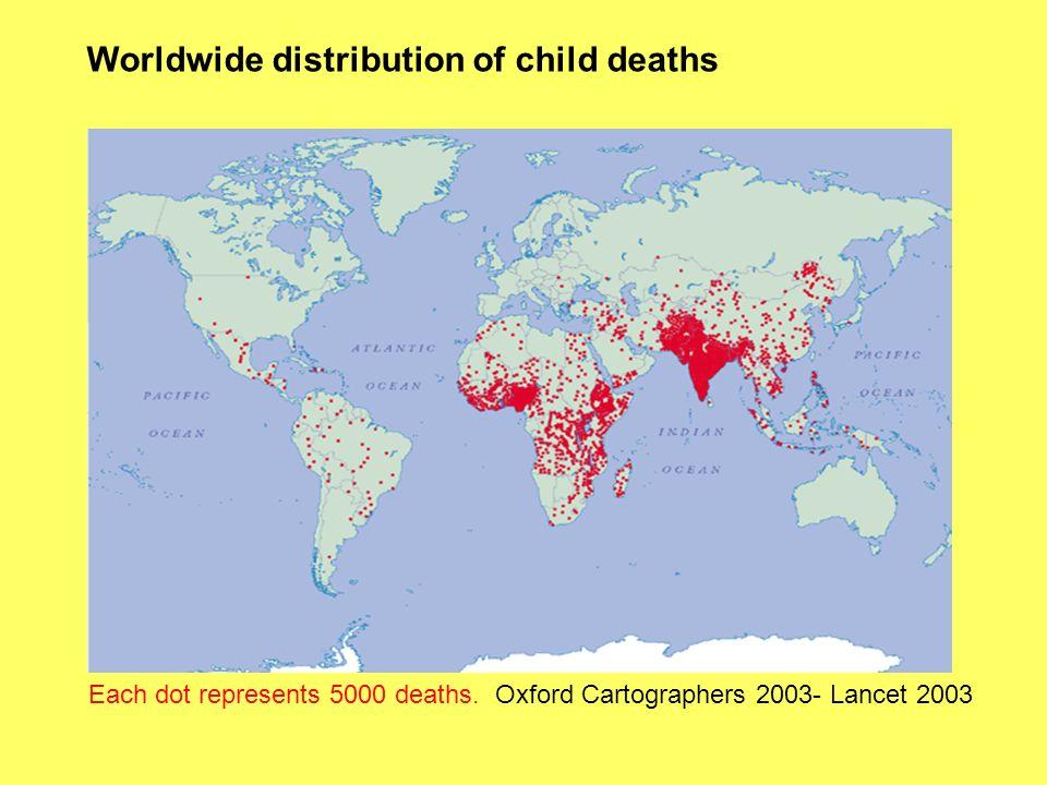 Proporzione delle morti infantili causate dalla malnutrizione Lancet 2003