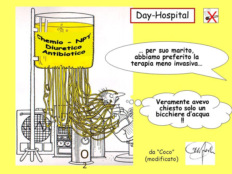 O2O2 Day-Hospital … per suo marito, abbiamo preferito la terapia meno invasiva… da Coco (modificato) Veramente avevo chiesto solo un bicchiere dacqua