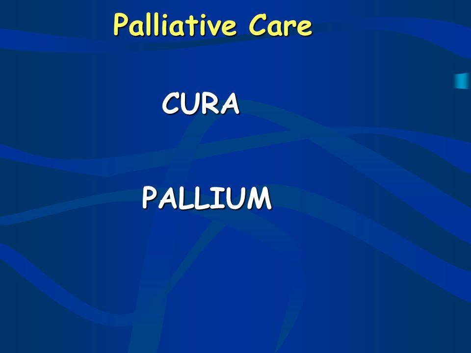Palliative care cura cura pallium pallium
