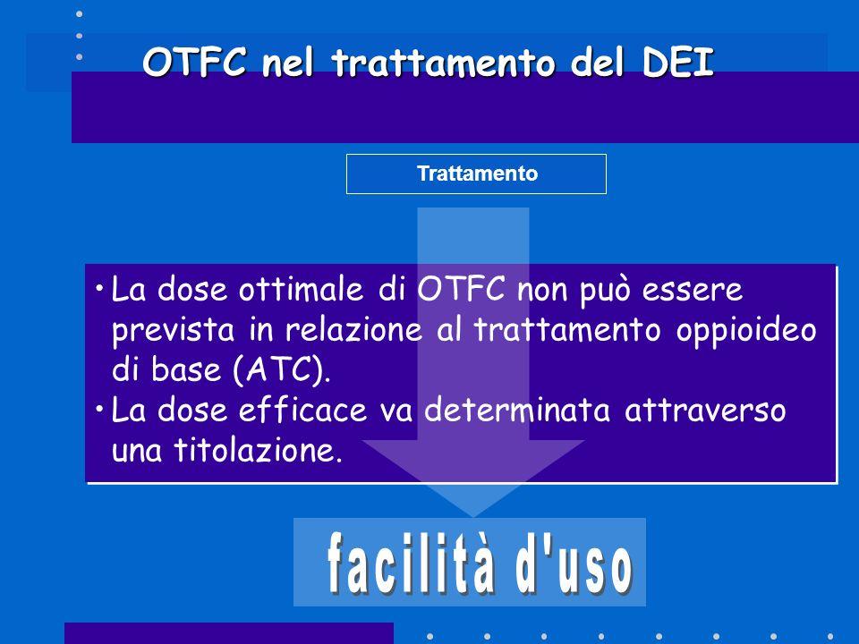 OTFC nel trattamento del DEI Trattamento La dose ottimale di OTFC non può essere prevista in relazione al trattamento oppioideo di base (ATC). La dose