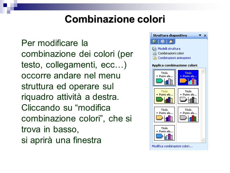 Avanzamento automatico Poi, operando sulle finestre che attivano i menu a cascata scegliere: inizia dopo precedente, con la direzione e la velocità de