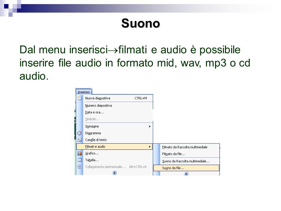 Transizione Dal menu presentazione è possibile anche inserire una transizione, cioè un passaggio animato da una diapositiva ad unaltra. Per esempio co