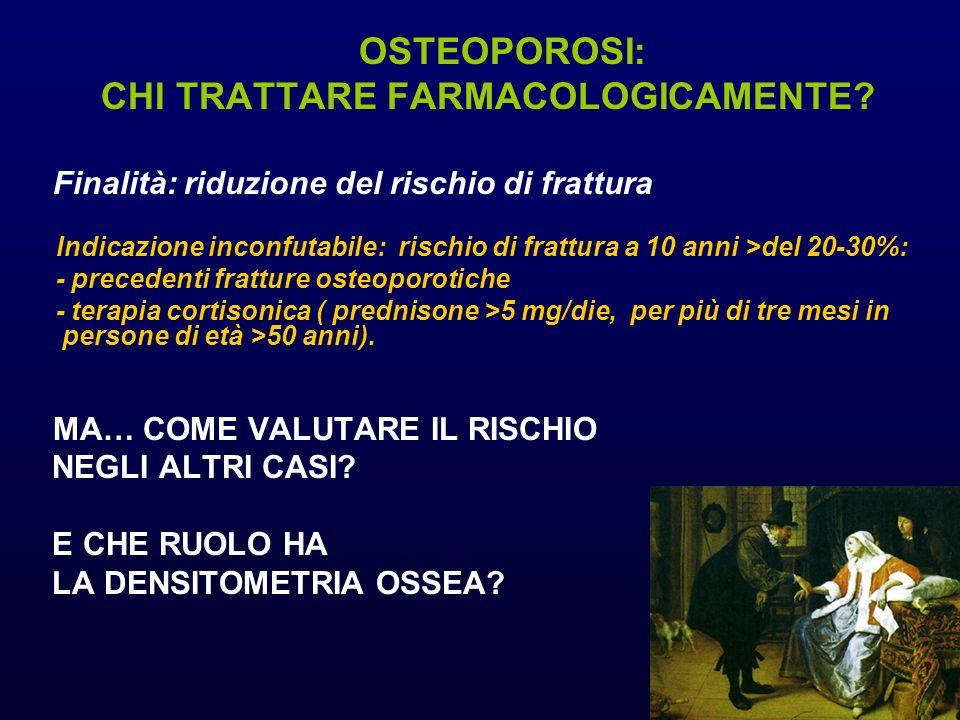 OSTEOPOROSI: CHI TRATTARE FARMACOLOGICAMENTE.