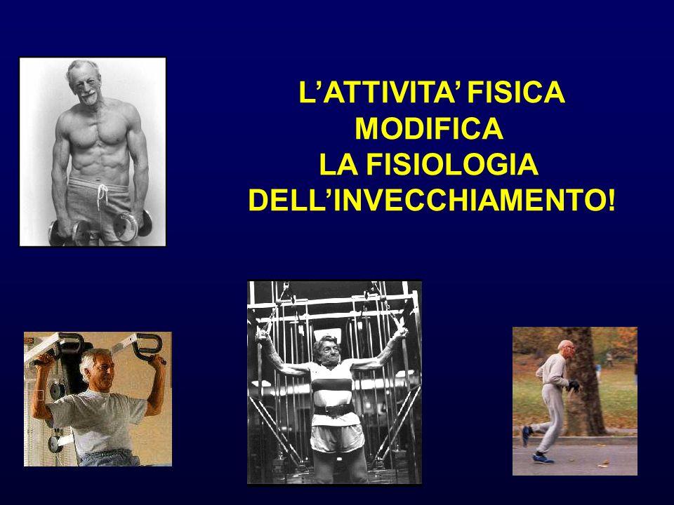 LATTIVITA FISICA MODIFICA LA FISIOLOGIA DELLINVECCHIAMENTO!