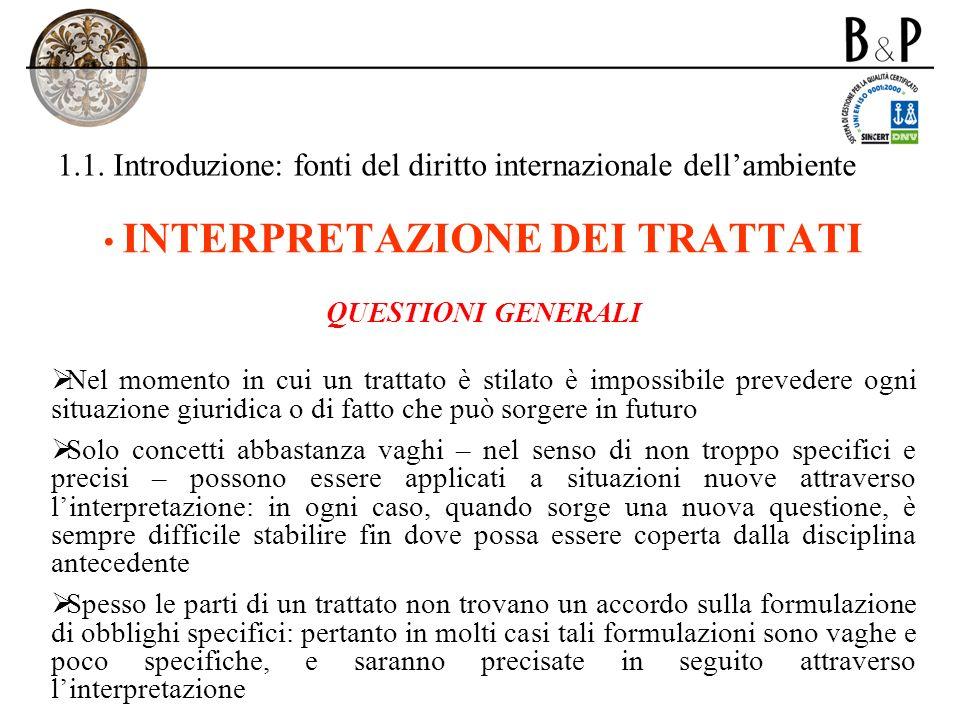 1.1.Introduzione: fonti del diritto internazionale dellambiente F.