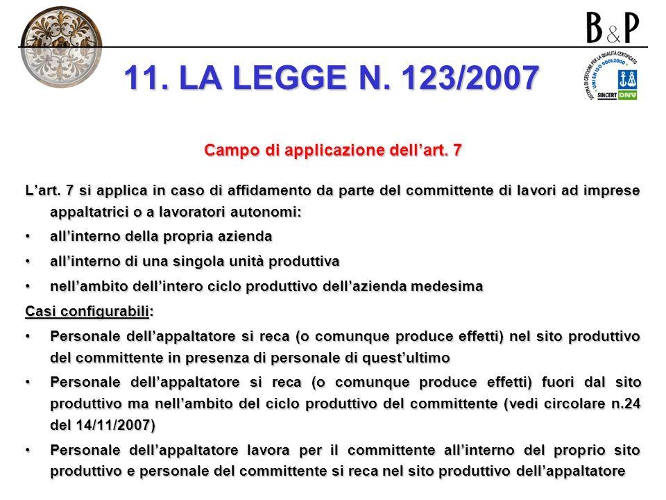 art. 3: modifiche al d. lgs. n. 626/1994 Modifiche allart. 7: i rischi da interferenza nel caso di contratto di appalto