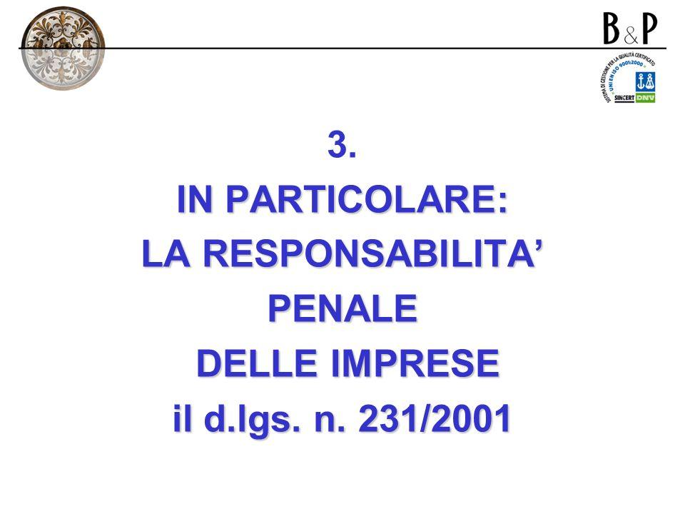 2. La responsabilità di impresa - la responsabilità penale - Elemento oggettivo (tipicità): 1.Comportamento 2.Evento 3.Nesso causale (antigiuridicità)