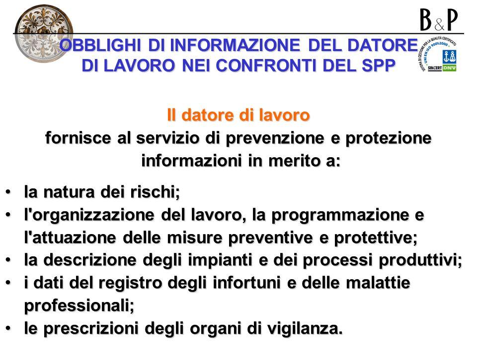 LA RIUNIONE PERIODICA DI CUI ALLART. 11 D.LGS. 626/1994 (… segue) Nel corso della riunione il datore di lavoro sottopone all'esame dei partecipanti: a