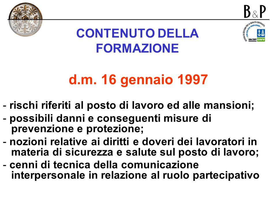 CONTENUTI DELLINFORMAZIONE art. 21 d.lgs. n. 626/1994 -rischi per la salute e la sicurezza connessi allattività dellimpresa in generale; -misure e att