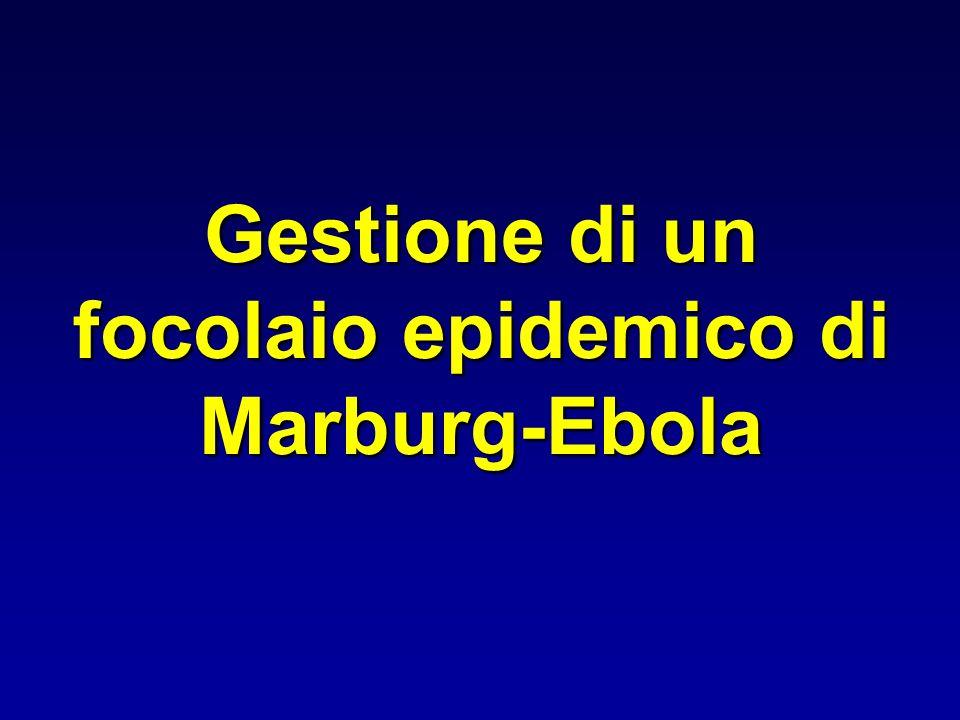 Gestione di un focolaio epidemico di Marburg-Ebola