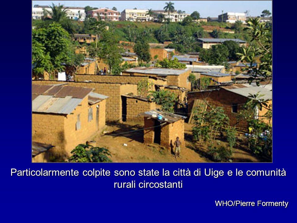 Particolarmente colpite sono state la città di Uige e le comunità rurali circostanti WHO/Pierre Formenty