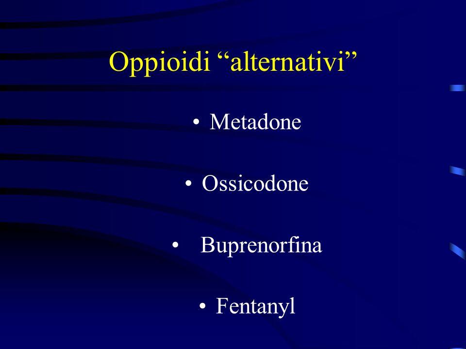 Oppioidi alternativi Metadone Ossicodone Buprenorfina Fentanyl
