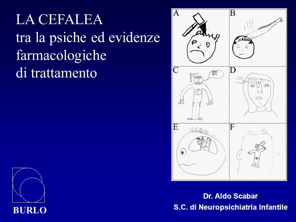 Dr. Aldo Scabar S.C. di Neuropsichiatria Infantile BURLO LA CEFALEA tra la psiche ed evidenze farmacologiche di trattamento