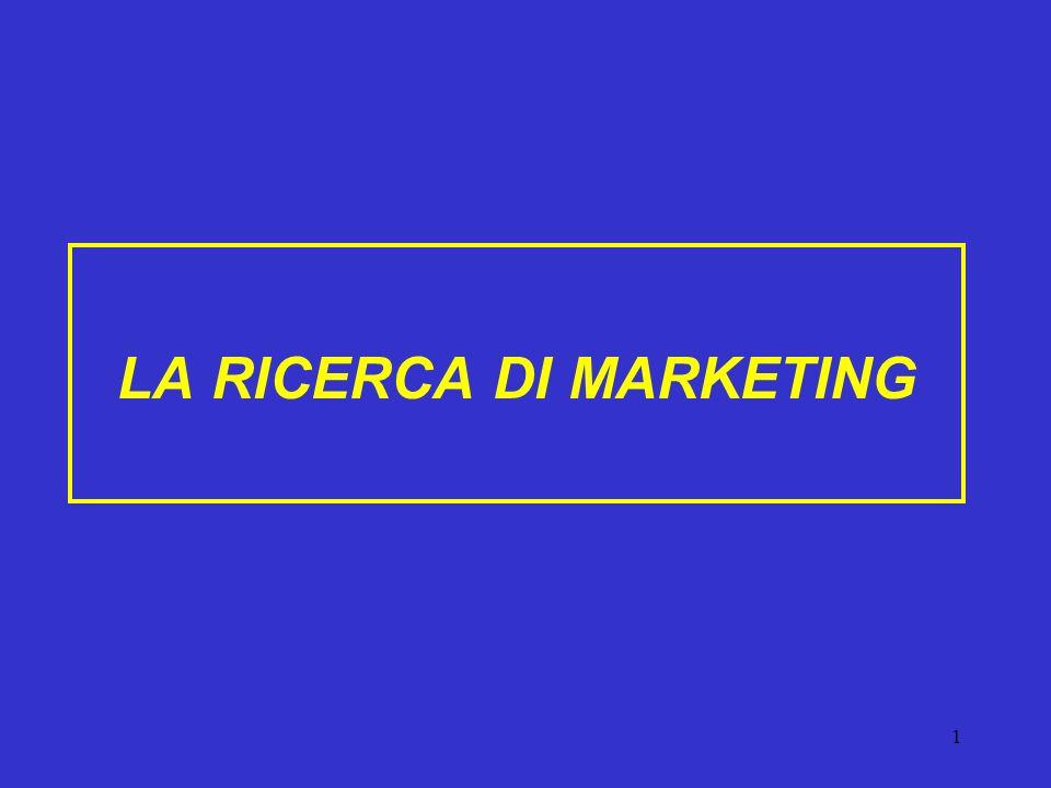 1 LA RICERCA DI MARKETING