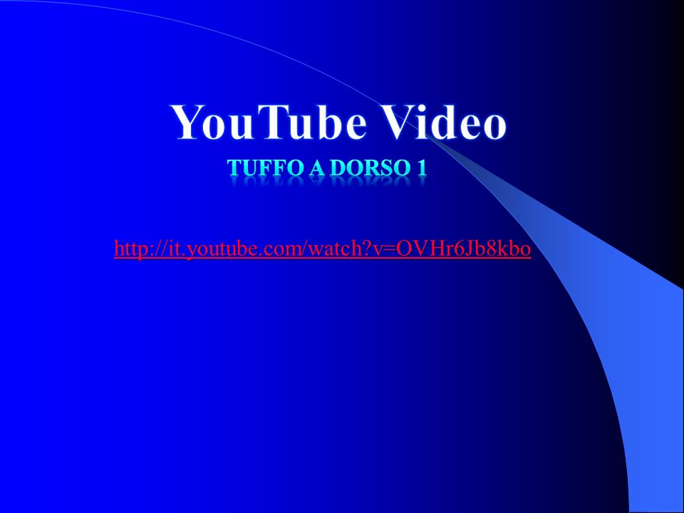 http://it.youtube.com/watch?v=OVHr6Jb8kbo