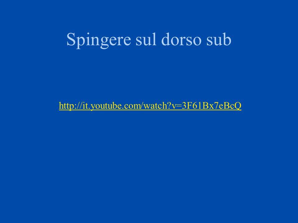 Spingere sul fianco sub http://it.youtube.com/watch?v=lBclJgxY14I