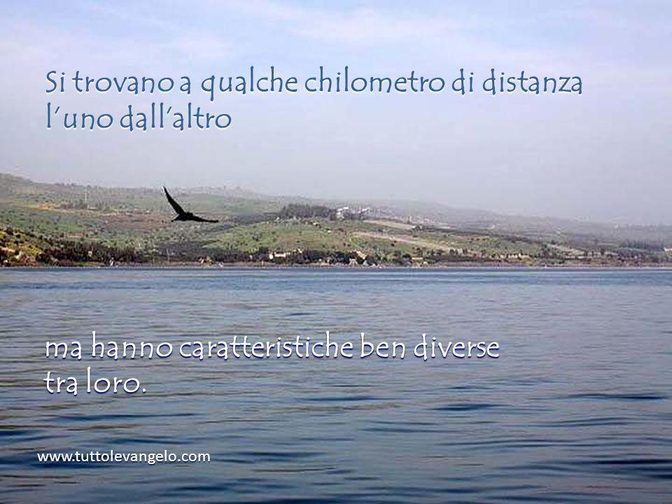 www.tuttolevangelo.com Si trovano a qualche chilometro di distanza luno dallaltro ma hanno caratteristiche ben diverse tra loro.