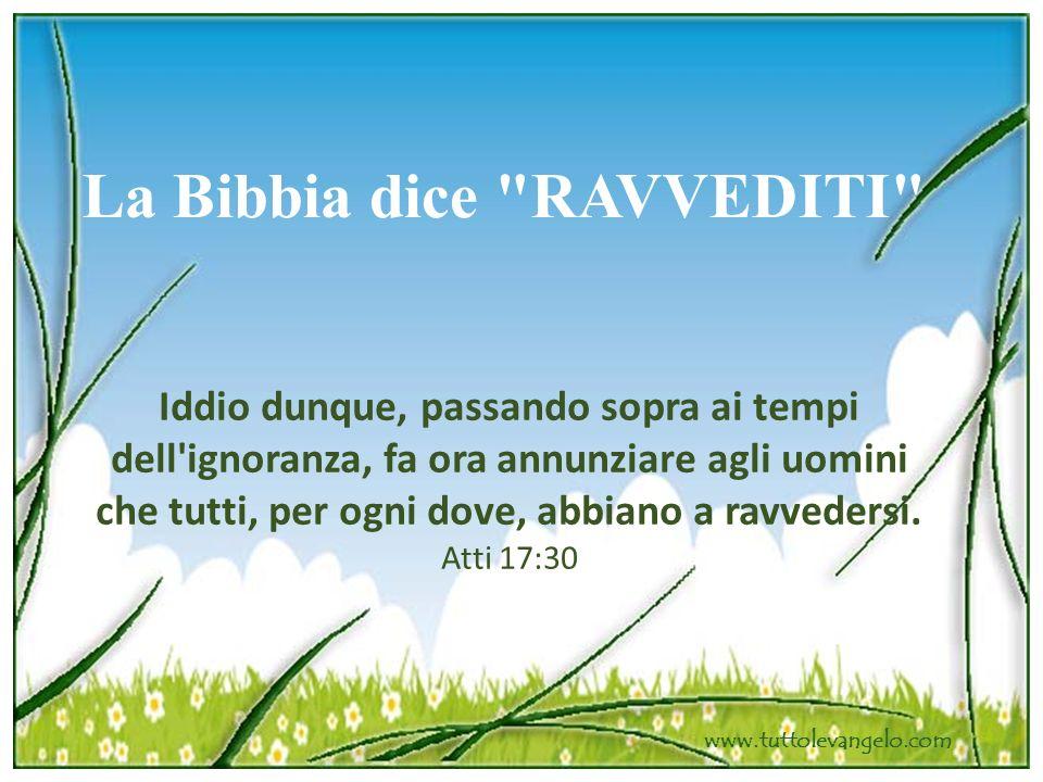La Bibbia dice