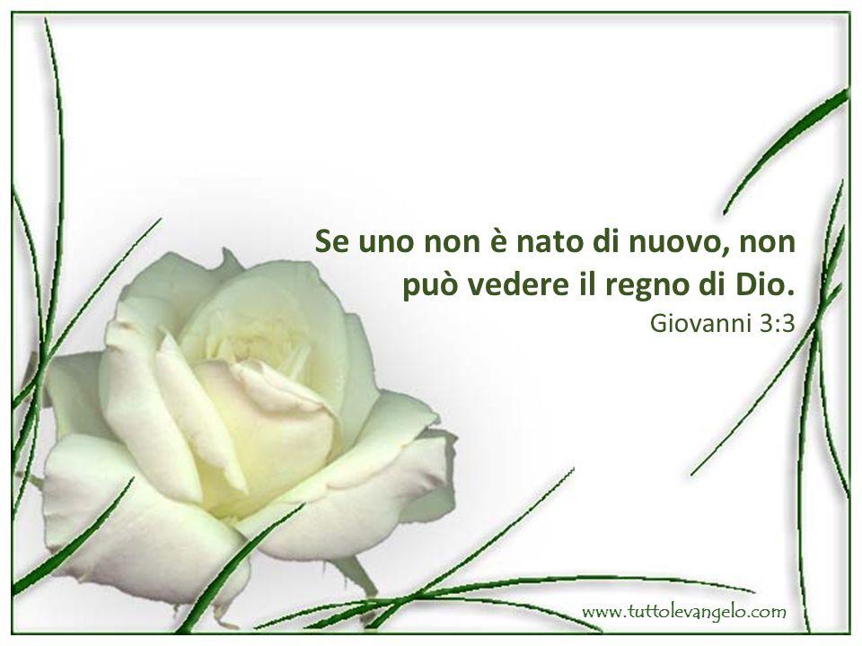 Se uno non è nato di nuovo, non può vedere il regno di Dio. Giovanni 3:3 www.tuttolevangelo.com