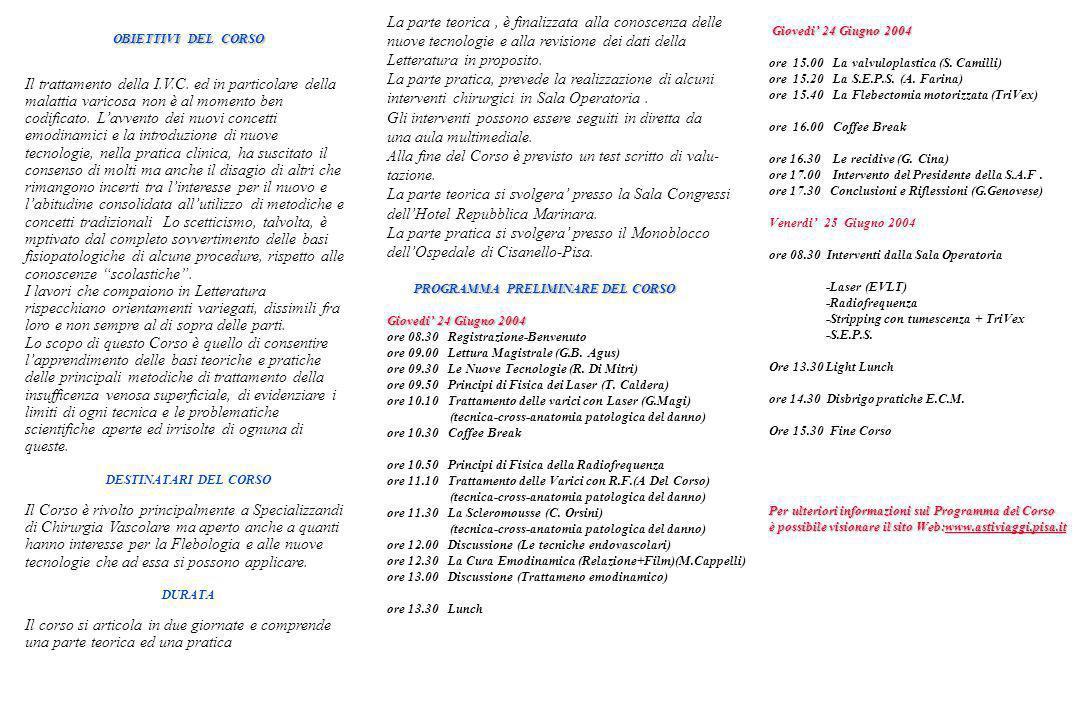 III EDIZIONE III EDIZIONE Coordinatore del Corso: Coordinatore del Corso: Dr.