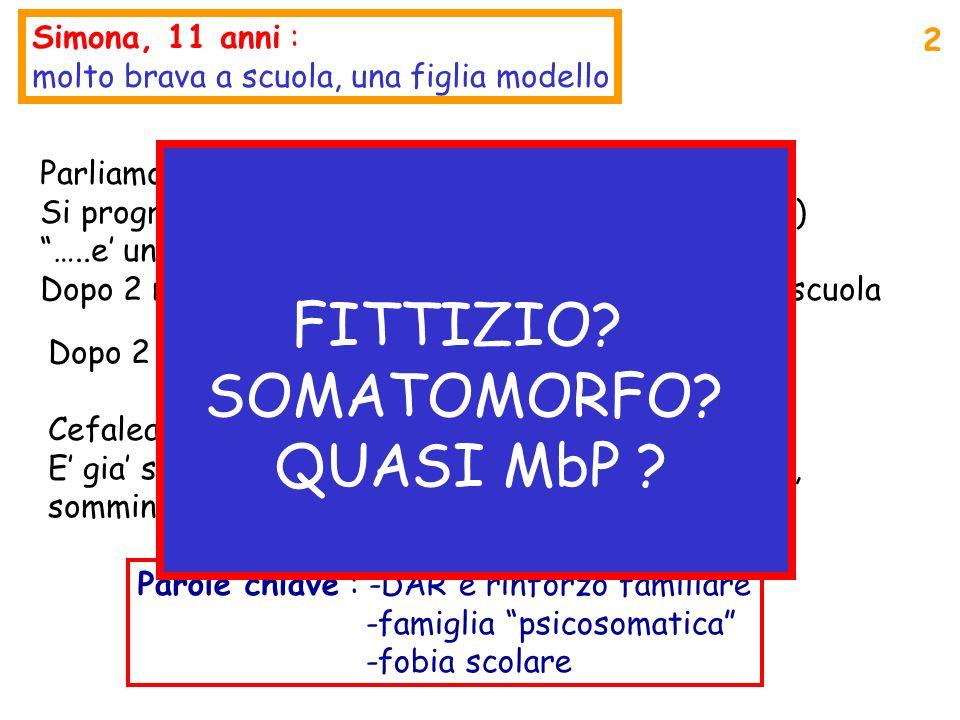 DI CHE COSA STIAMO PARLANDO Patologia fittizia/Malingering (consapevole inganno ) Disturbo somatoforme/Psicosom.