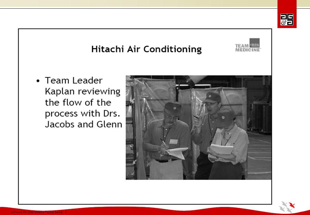 Ul\Forum PA 2006-Sistema Toyota Sanità 13 LA TOYOTA SUL MERCATO VALE DI PIU DEI TRE GRANDI COMPLESSI AMERICANI: GENERAL MOTORS, FORD, CRYSLER
