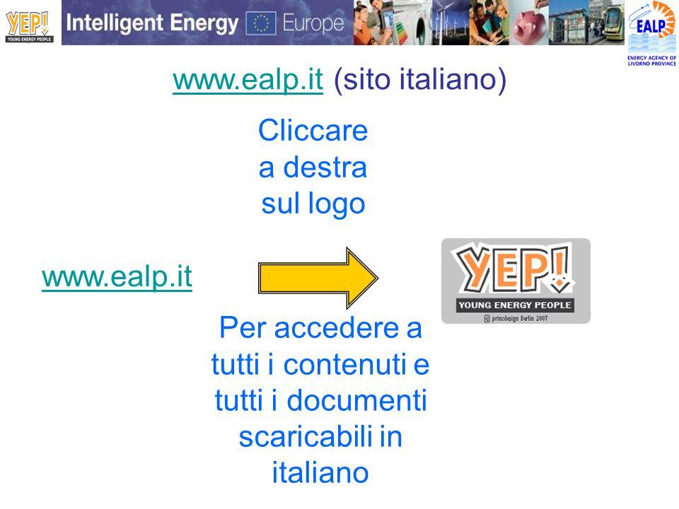 www.ealp.itwww.ealp.it (sito italiano) www.ealp.it Cliccare a destra sul logo Per accedere a tutti i contenuti e tutti i documenti scaricabili in ital