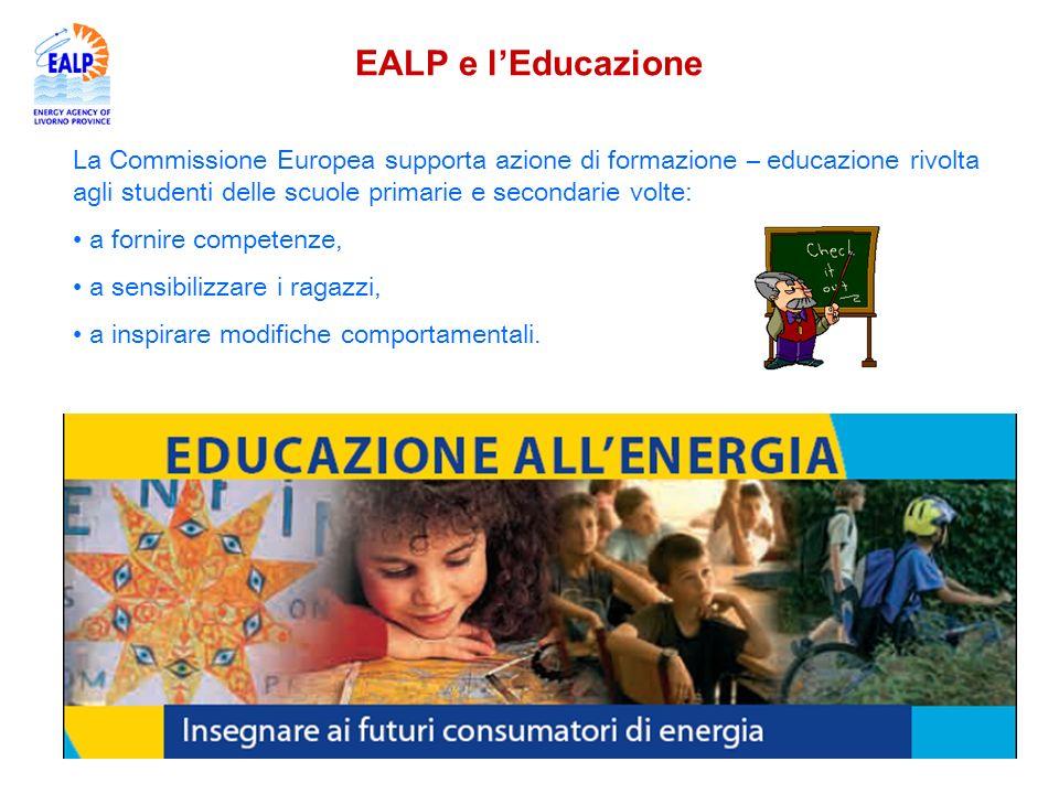 Ealp oramai da 10 anni svolge attività di educazione al risparmio energetico e alluso di fonti rinnovabili in tutto il territorio provinciale e si rivolge alle scuole di ogni ordine e grado.