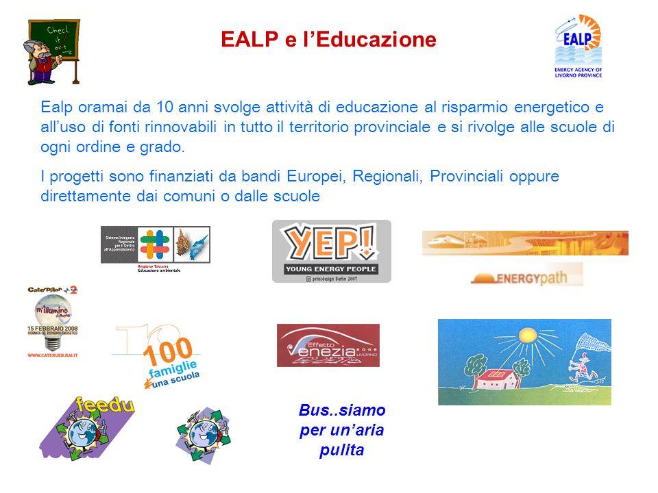 Ealp oramai da 10 anni svolge attività di educazione al risparmio energetico e alluso di fonti rinnovabili in tutto il territorio provinciale e si riv