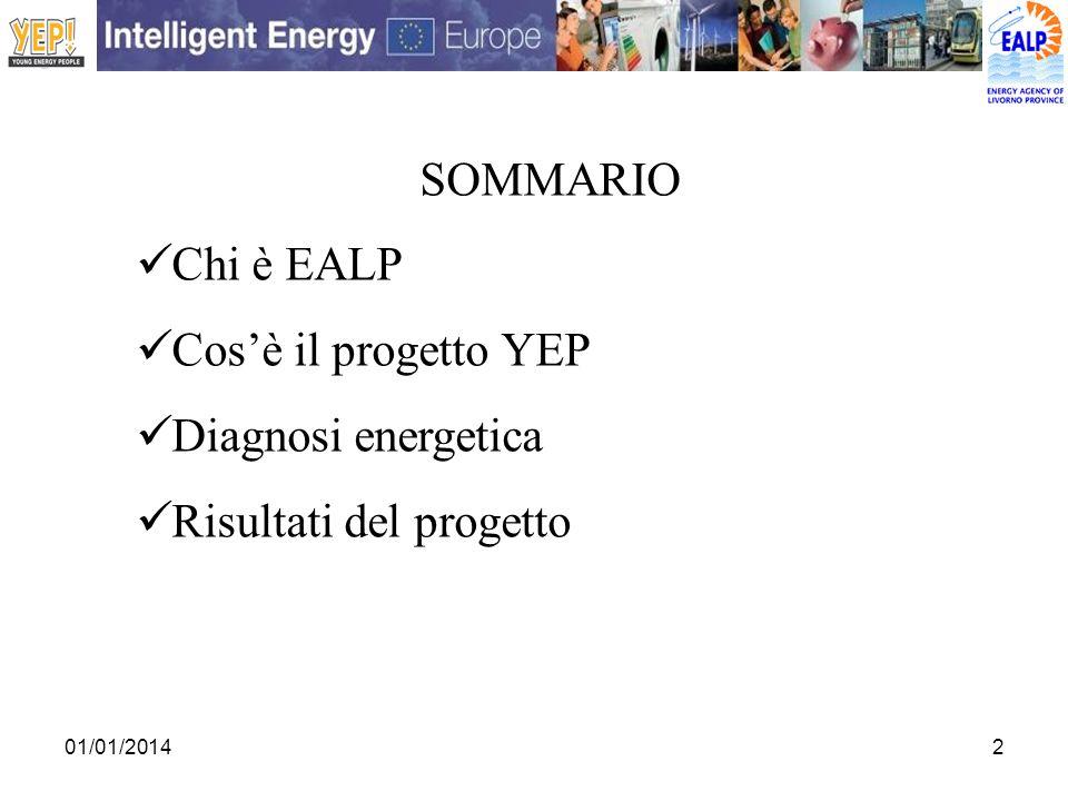 2 SOMMARIO Chi è EALP Cosè il progetto YEP Diagnosi energetica Risultati del progetto