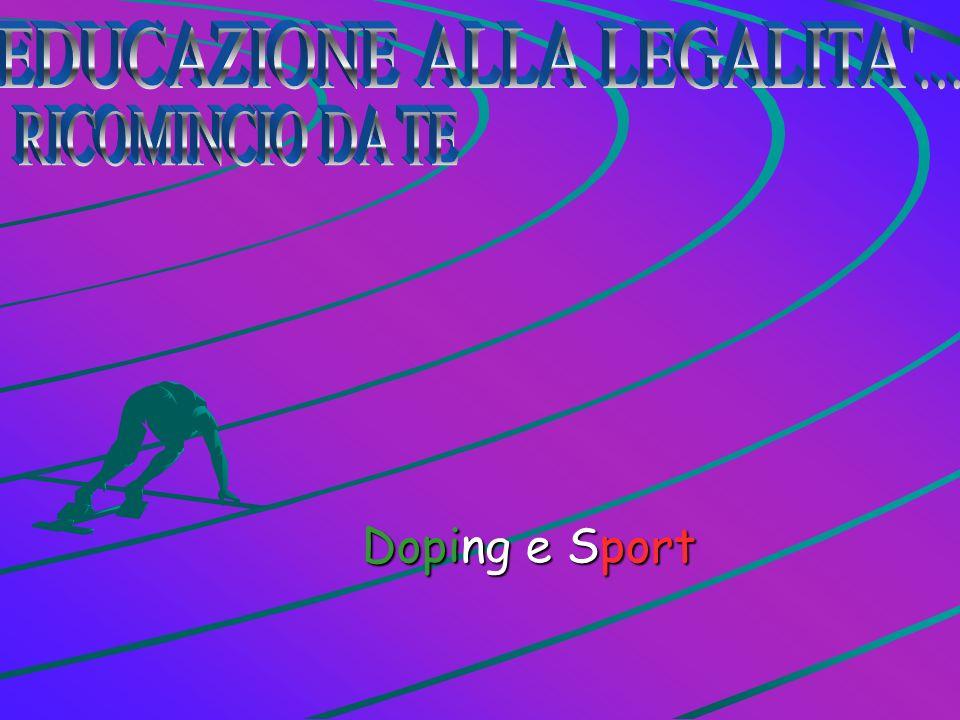 Il Doping è una somministrazione illegale di farmaci eccitanti o droghe, ad atleti o addirittura animali per avere delle determinate prestazioni.